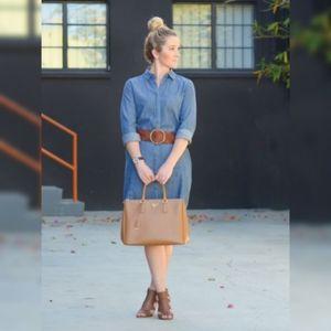 Jean dress with adjustable waist